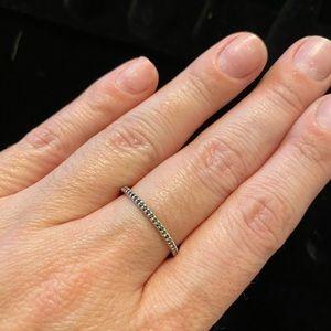 Silpada black stone infinity Ring